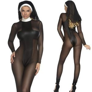 BAD NUN CATSUIT HALLOWEEN COSTUME * NWT*  ✖️REBEL
